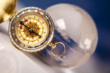 compasses: Navigation earth, Compass Stock Photo