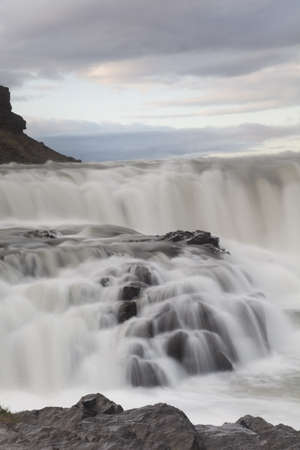places of interest: Gullfoss, Iceland waterfall