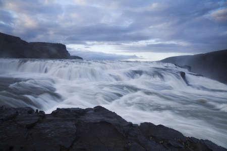 Gullfoss, Iceland waterfall photo