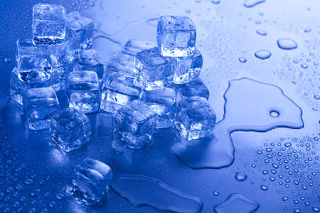Background with ice cubes  photo