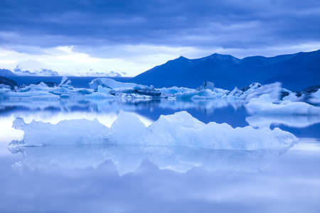 glacier: Landscape scenery with a ice, Jokulsarlon, Iceland