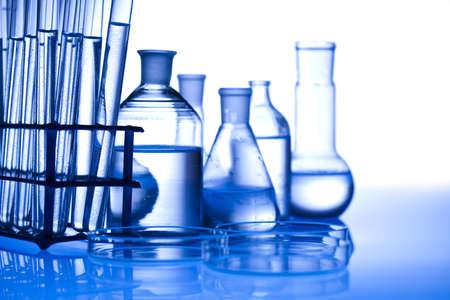 reagents: Chemical laboratory glassware equipment