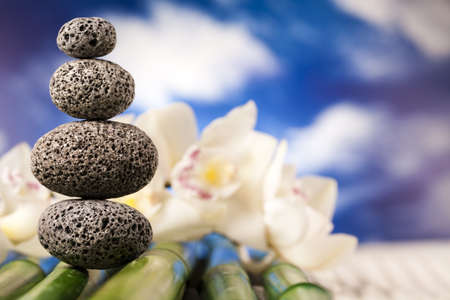 Stones and bamboo, zen Stock Photo - 12141119