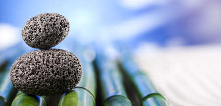 Stones and bamboo, zen Stock Photo - 12140654