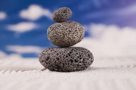 Still life, stone and zen photo