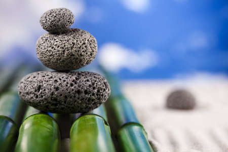 Stones and bamboo, zen photo