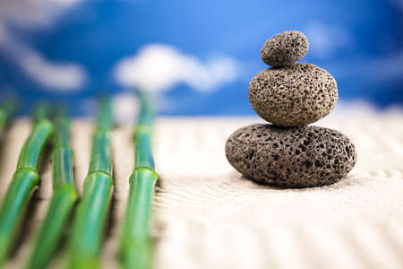 Stones and bamboo, zen Stock Photo - 12141135