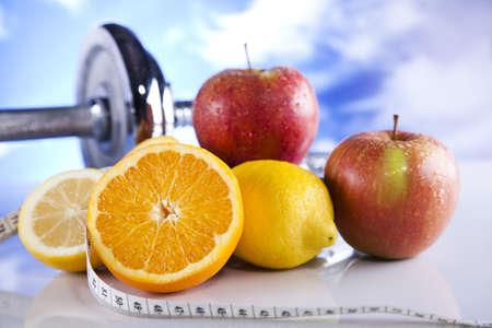 Gesunder Lebensstil-Konzept, Ernährung und Fitness Standard-Bild - 12141011