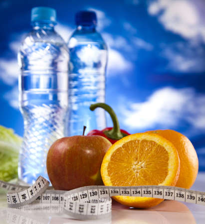Food and measurement, fitness photo