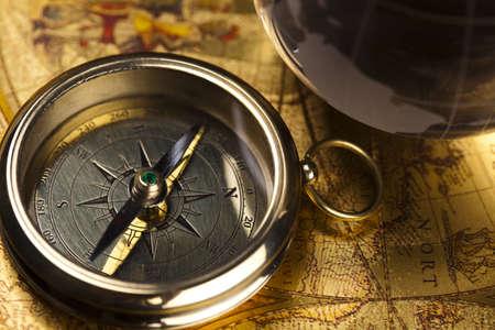 Vintage Navigation Equipment, compass photo