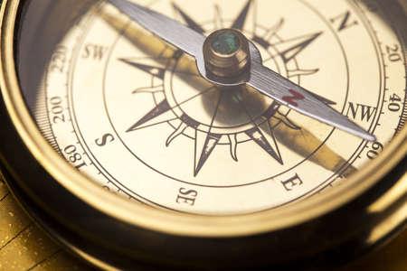 Detail Nahaufnahme Kompass Standard-Bild - 13503106
