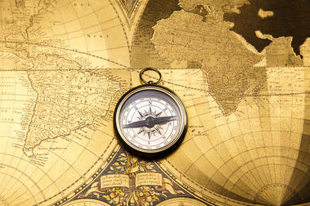 Compass, Old map   photo