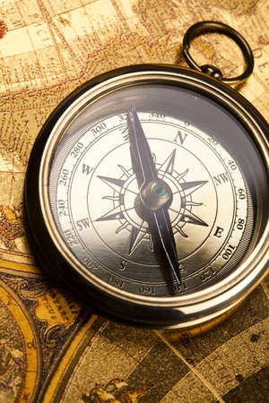 Detail closeup compass photo