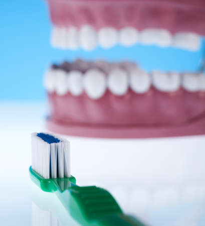 Teeth, Dental health care objects  Stock Photo - 13502935