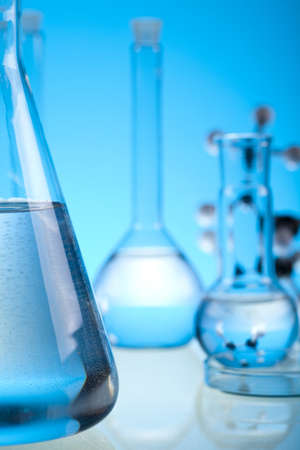 Glass in laboratory    Stock Photo - 13502017