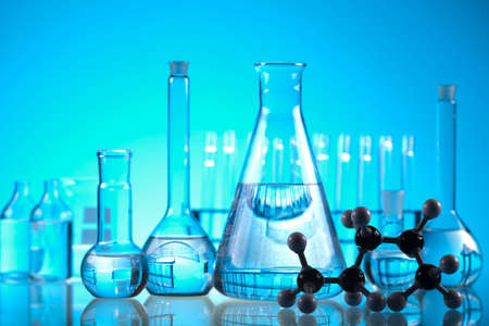 Glass in laboratory    photo