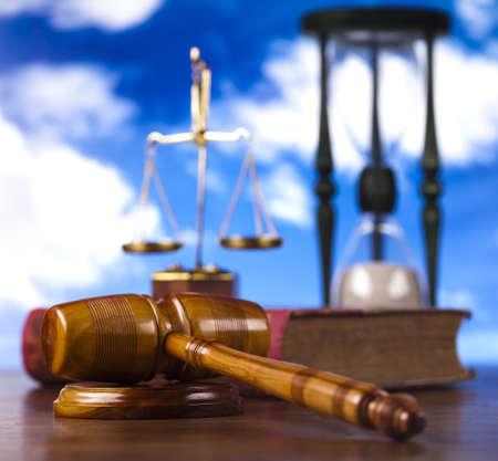 arbitrar: Ley y el cielo bluse Foto de archivo