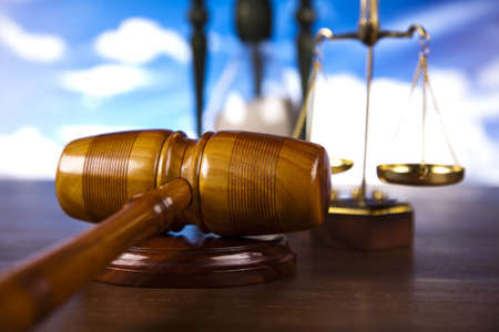 Law theme, mallet of judge   Stock Photo - 13501564