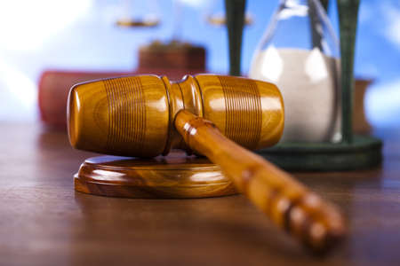 Law theme, mallet of judge   Stock Photo - 13501249