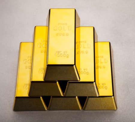 Pyramid from Golden Bars Stock Photo - 13329845