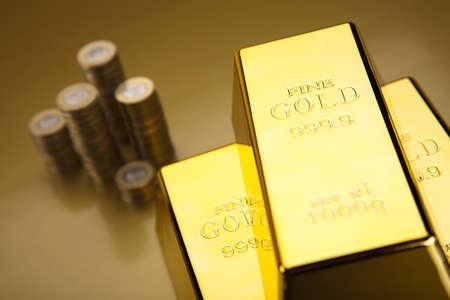 numismatist: Gold bars and coins
