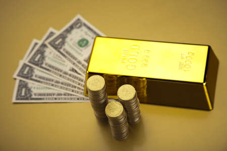 Gold and money photo