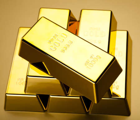 Gold bars background Stock Photo - 13329881