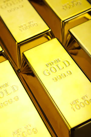 Gold bullion Stock Photo - 13329866