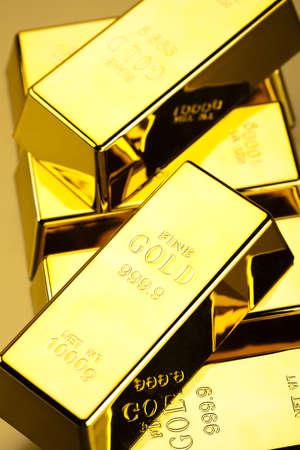 goldbars: Stack of gold bars Stock Photo