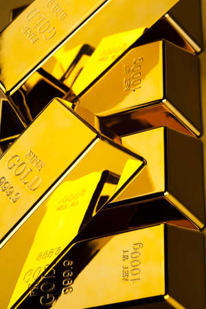 Stack of gold bars Stock Photo - 13342303