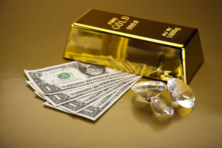 Diamond and gold Stock Photo - 13342235