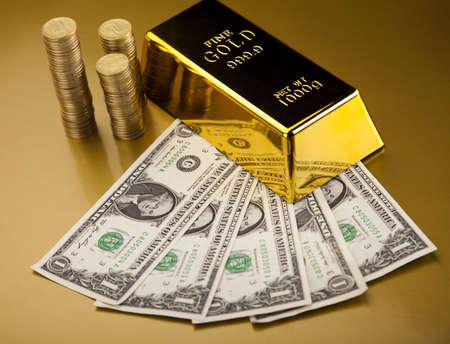 goldbars: Gold and money