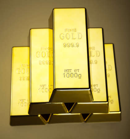 Gold bars background photo