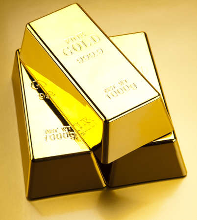 goldbars: Stack of gold bars Stock Photo