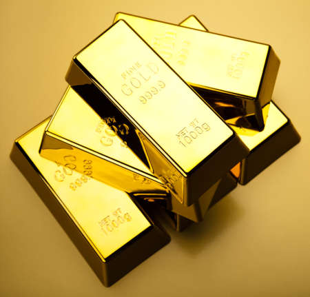 gold bar: Gold background Stock Photo