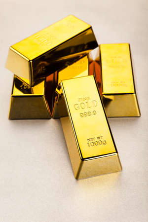 Stack of gold bars Stock Photo - 13342240