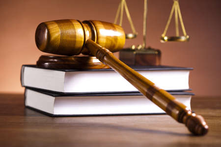 Law and justice concept, wooden gavel Standard-Bild