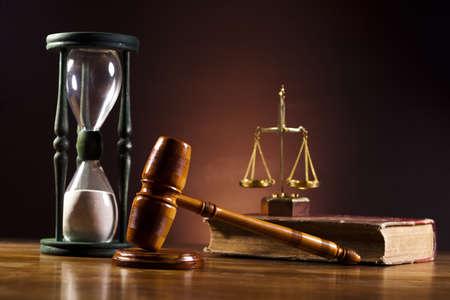 Judges wooden gavel Stock Photo - 14232271