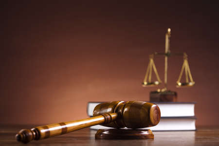 the litigation: Justice Scale and Gavel