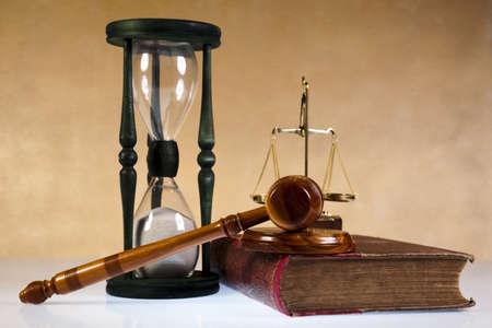 abogado: Tema de la Ley, un mazo de juez, martillo de madera