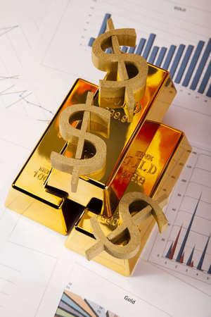 Office Concept, Gold bar Stock Photo - 14230885