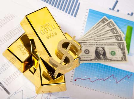 Financial indicators,Chart,Gold bar,money photo