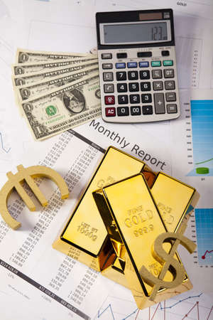 Finance Concept, Gold bar Stock Photo - 14219179