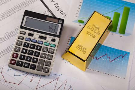 Finance Concept, Gold bar Stock Photo - 14219153