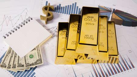 Golden Bars Stock Photo - 14219051
