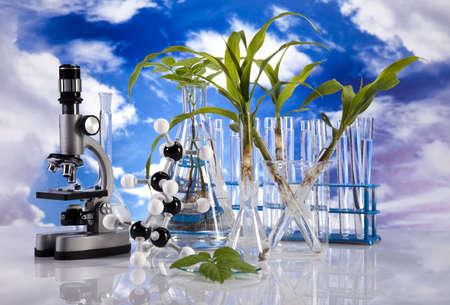 pipeptte: Laboratory  on blue sky background