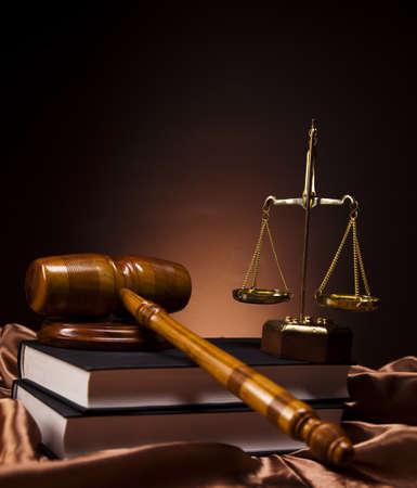orden judicial: Madera abogado de martillo, el concepto de la justicia