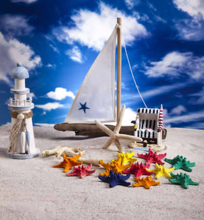 Sailboat concept, holiday, summer, beach Background  photo