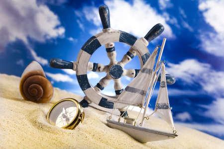 Holiday, summer, beach Background Stock Photo - 14218613