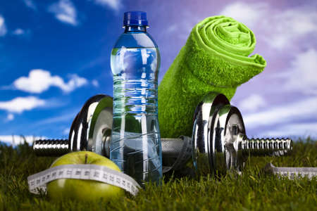 dieting:  Fitness and vitamins Stock Photo